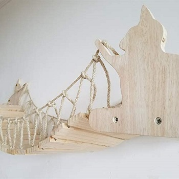 Felivecal Wooden Sturdy Wall Cat Tree