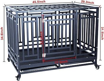 Gelinzon Heavy Duty Dog Crate