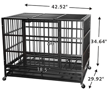 Itori 42-in Heavy Duty Dog Cage