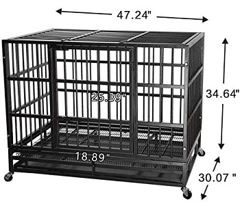 Itori 48'' Heavy Duty Metal Dog Cage