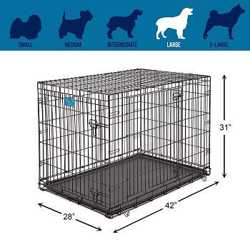 Life Stages Double Door Folding Crate