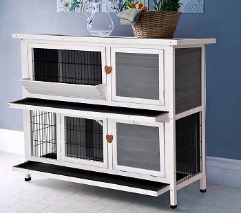 Lovupet 2 Stories Rabbit Hutch