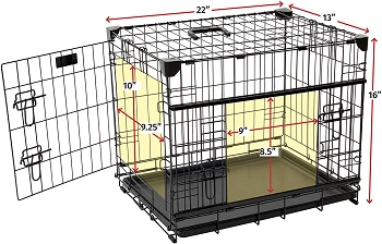 Lucky Dog Sliding Door Dog Crate