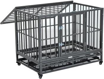PawHut Heavy Duty Dog Crate