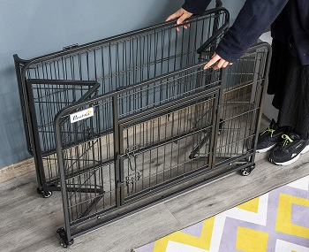 PawHut Heavy Duty Metal Dog Crate