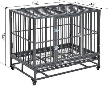 PawHut Heavy Duty Steel Dog Crate
