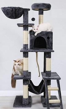 Rabbitgoo Multi-Level Cat Tree Grey Color