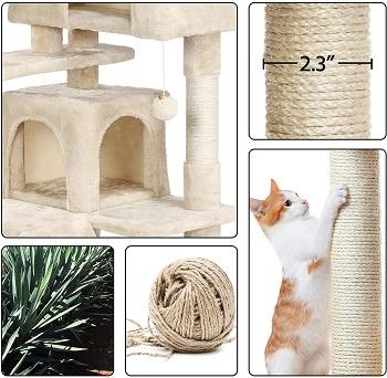 Yaheetech 51in Cat Tree Tower Condo