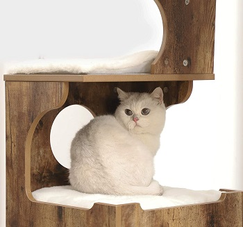 BEST CORNER ALL WOOD CAT TREE