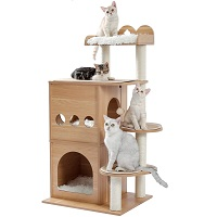 BEST FOR LARGE CATS ALL WOOD TREE summary