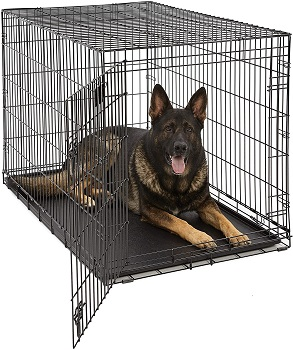 BEST FOR PUPPIES FOLDING METAL DOG CRATE
