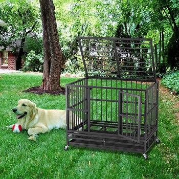 BEST METAL BLACK DOG CAGE