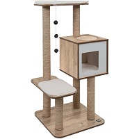 BEST OF BEST ALL WOOD CAT TREE summary