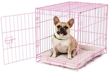 BEST PINK WIRE COLORED DOG CRATE