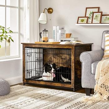 Feandrea Wooden Dog Crate