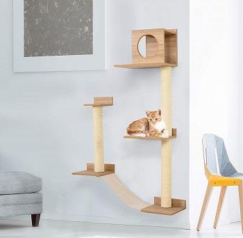 Pawhut Wall-mounted Cat Tree