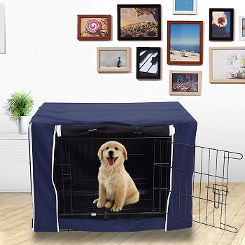 BEST LARGE BREATHABLE DOG CRATE COVER