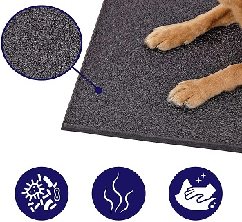 BEST LARGE RUBBER DOG CRATE MAT