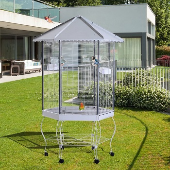 BEST LARGE VINTAGE BIRD CAGE WITH STAND