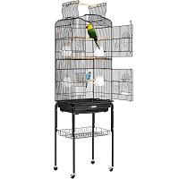 BEST LARGE VINTAGE WROUGHT IRON BIRD CAGE usmmary