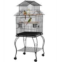 BEST ON WHEELS ANTIQUE BIRD CAGE STAND USmmary