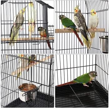 BEST ON WHEELS ANTIQUE BIRD CAGE STAND