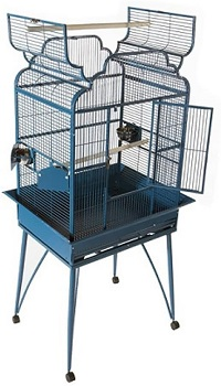 BEST PARAKEET LARGE ANTIQUE CAGE WITH STAND