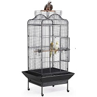 BEST WITH STAND VINTAGE WROUGHT IRON BIRD CAGE Summary