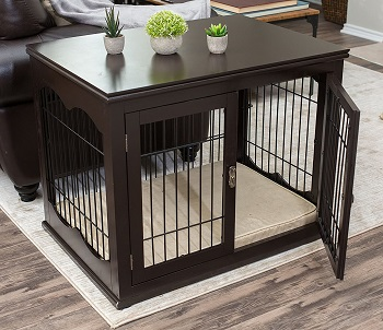 BEST WOODEN 22 INCH DOG CRATE