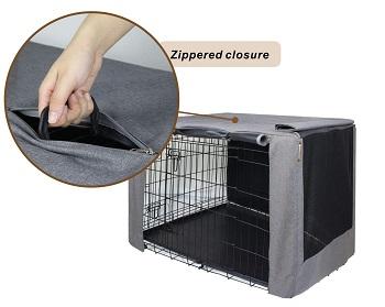 HiCaptain Double Door Dog Crate