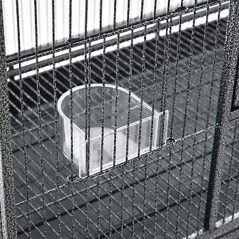 PawHut Rolling Metal Bird Cage