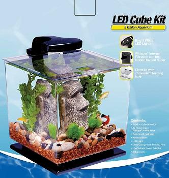 Tetra LED Cube Shaped Aquarium