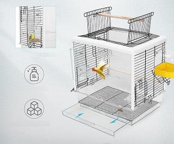 Vivohome Acrylic Parakeet Cage