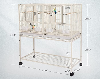 Vivohome Stackable Divided Bird Cage