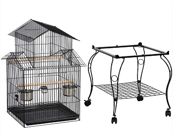 Yaheetech 55-in Rolling Bird Cage