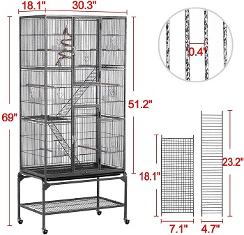 Yaheetech Extra Large Bird Cage