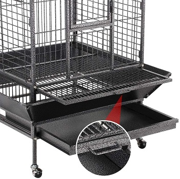 Yaheetech Wrought Iron Rolling Cage