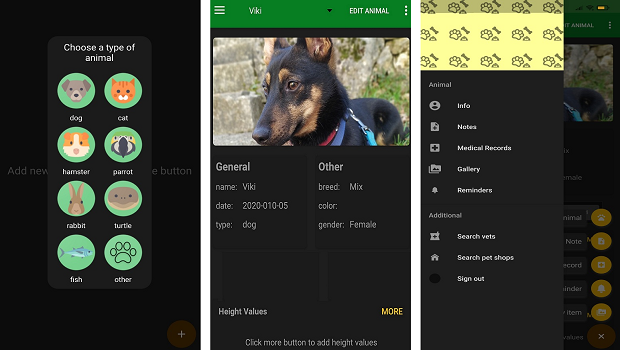 pets care and health app
