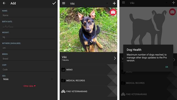 the dog health app