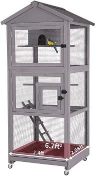 Aivituvin Bird Aviary With Perch