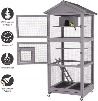 Aivituvin Wooden Bird Cage