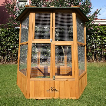 BEST ANTIQUE LARGE OUTDOOR AVIARY