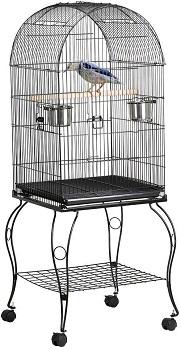 BEST ANTIQUE LARGE ROUND BIRD CAGE
