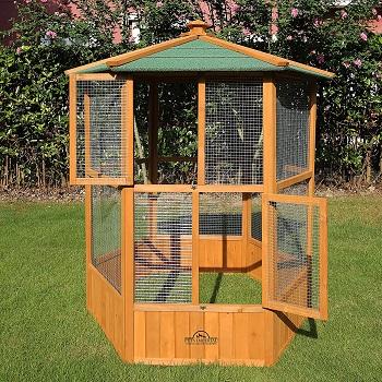 BEST INDOOR BIG WOODEN BIRD CAGE