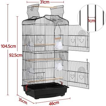 BEST INDOOR LARGE HANGING BIRD CAGE