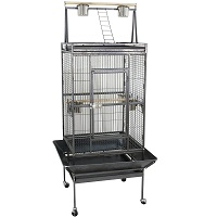 BEST ON WHEELS LARGE BIRD CAGE WITH STAND Summary