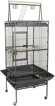 BEST ON WHEELS LARGE BIRD CAGE WITH STAND