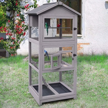 BEST METAL LARGE AVIARY WITH WHEELS