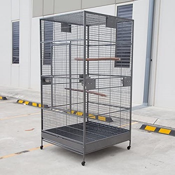 BEST PARROT AVIARY METAL BIRD CAGE WITH WHEELS