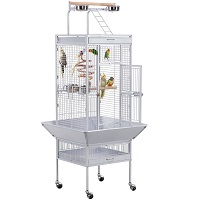 BEST WHITE LARGE BIRD CAGE WITH STAND USmmary